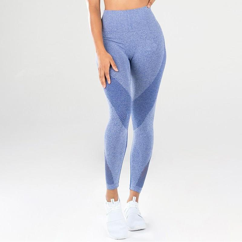 New mesh stitching hip yoga pants sports fitness pants sexy hips leggings