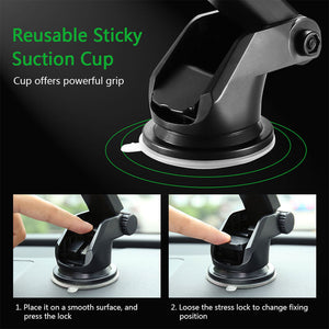 Windshield Mount Gravity Sucker Car Phone Holder Air Vent Car Holder For iPhone & Samsung