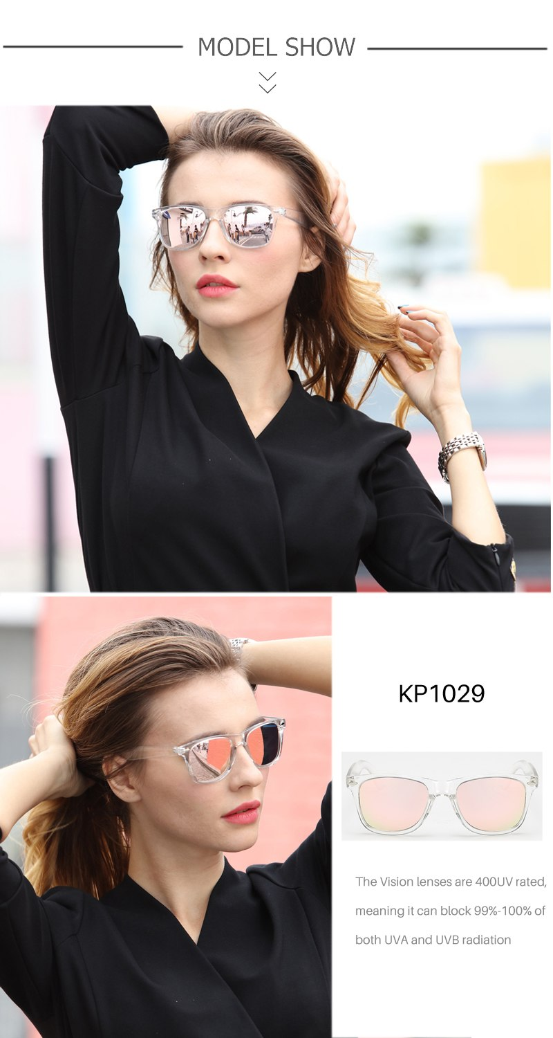 Polarized High Quality Mirror Reflective Sunglasses For Women