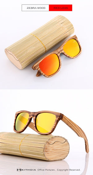 Wooden Polarized Sunglasses Men Women