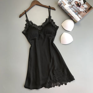 Hot & Sexy Silk Satin Nightgown Sleeveless Nighties
