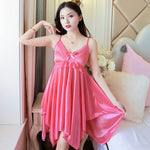 Hot & Sexy Nightgowns Silk Nightwear Nighty