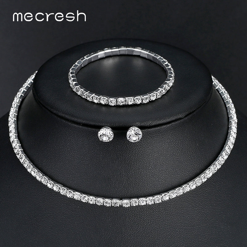 Silver Color Jewelry Set With Bracelet