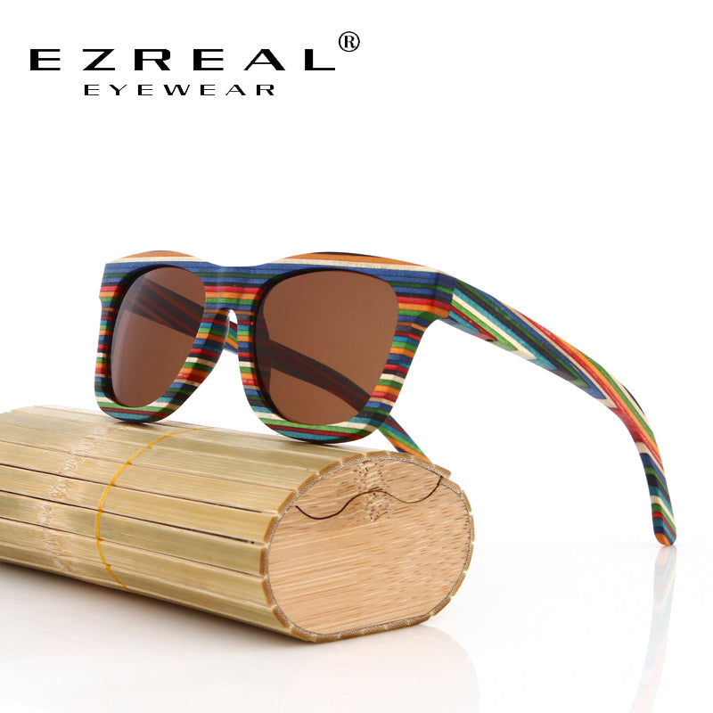 Original Wooden Bamboo Sunglasses Men Women