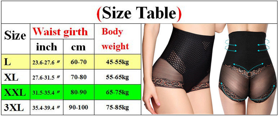 High Waist Tummy Control Panties Hip Butt Lifter Slimming Body Shaper