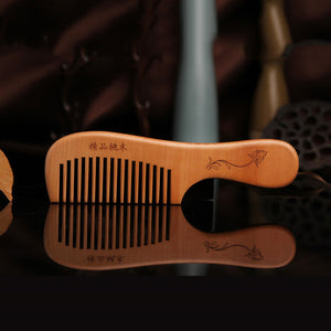 Anti-static Head Sandalwood Wooden Combs Comb Hairbrush