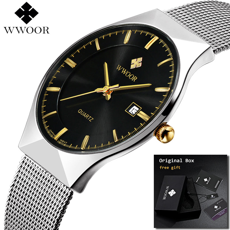 Stylish Ultra thin Luxury Waterproof Scratch-resistant Watch
