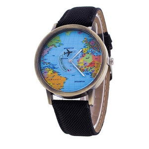 World Map Design Analog Quartz Watch For Men Women