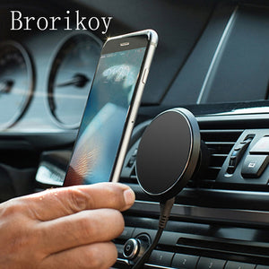 Qi Wireless Charger Car Air Vents Clamp Magnetic Stand Holder W3 Charging for iPhone X 8 Samsung S8/S9 Plus Wireless Charger