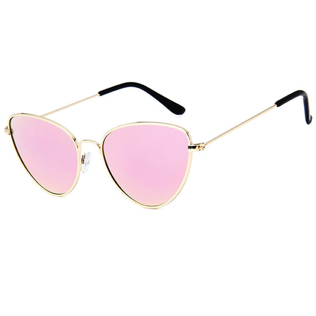 TOYEARN Vintage Cat Eye Metal Frame Sunglasses For Women
