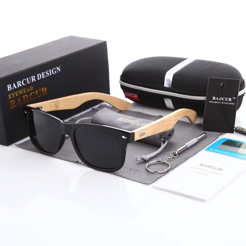 Bamboo Polarized Wooden Sunglasses For Men