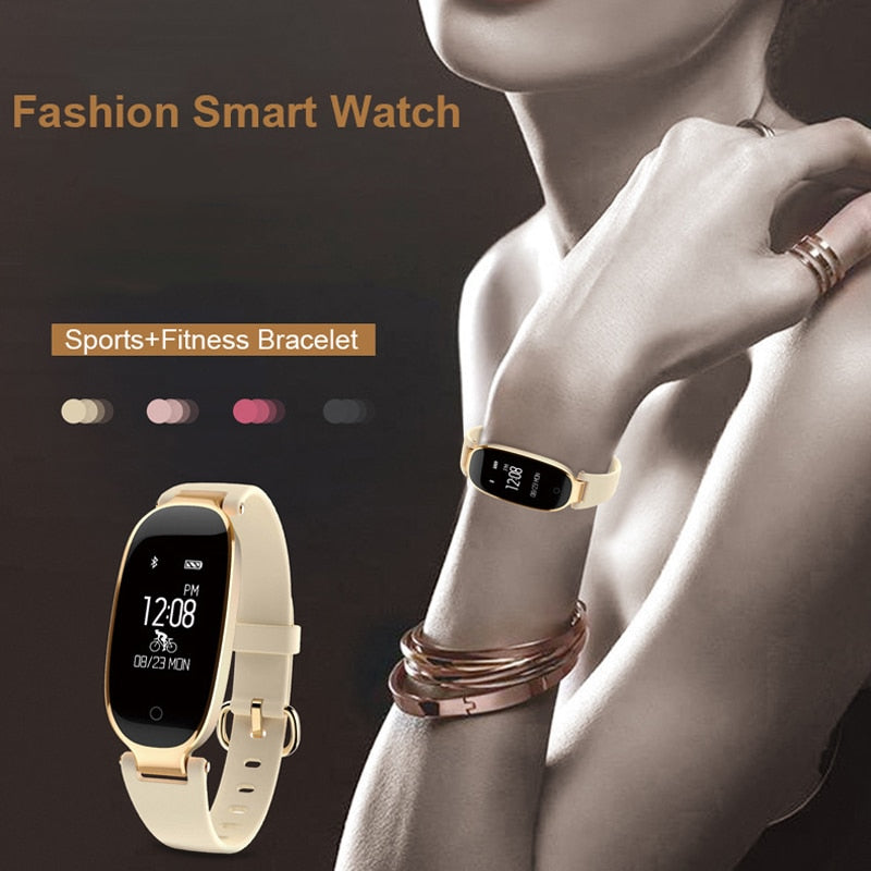 Bluetooth Waterproof Smart Watch Women Ladies Heart Rate Monitor For Android/IOS
