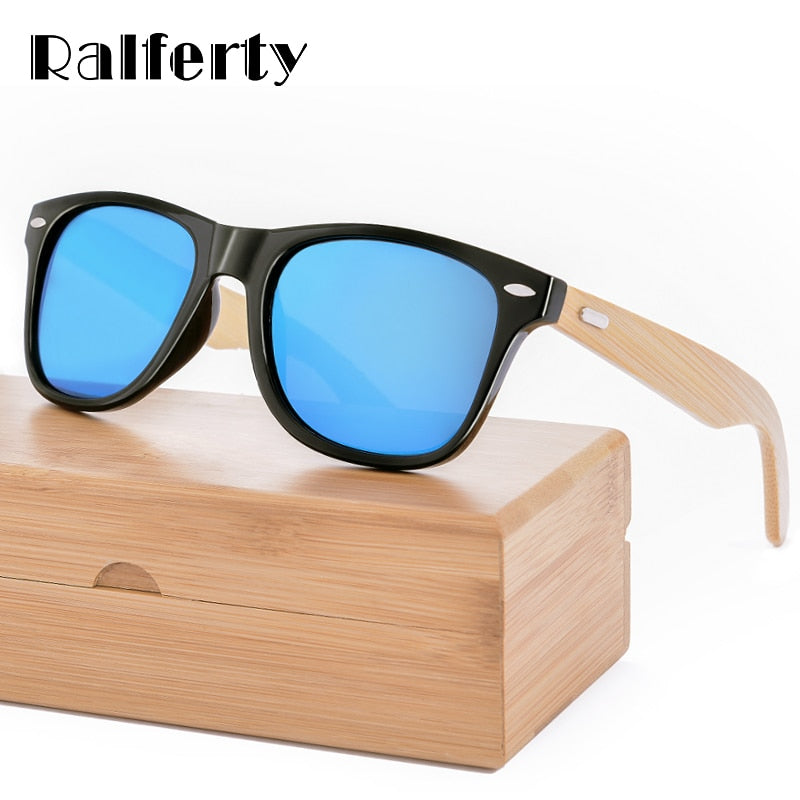 Retro Wood Bamboo Sunglass Men Women Mirror