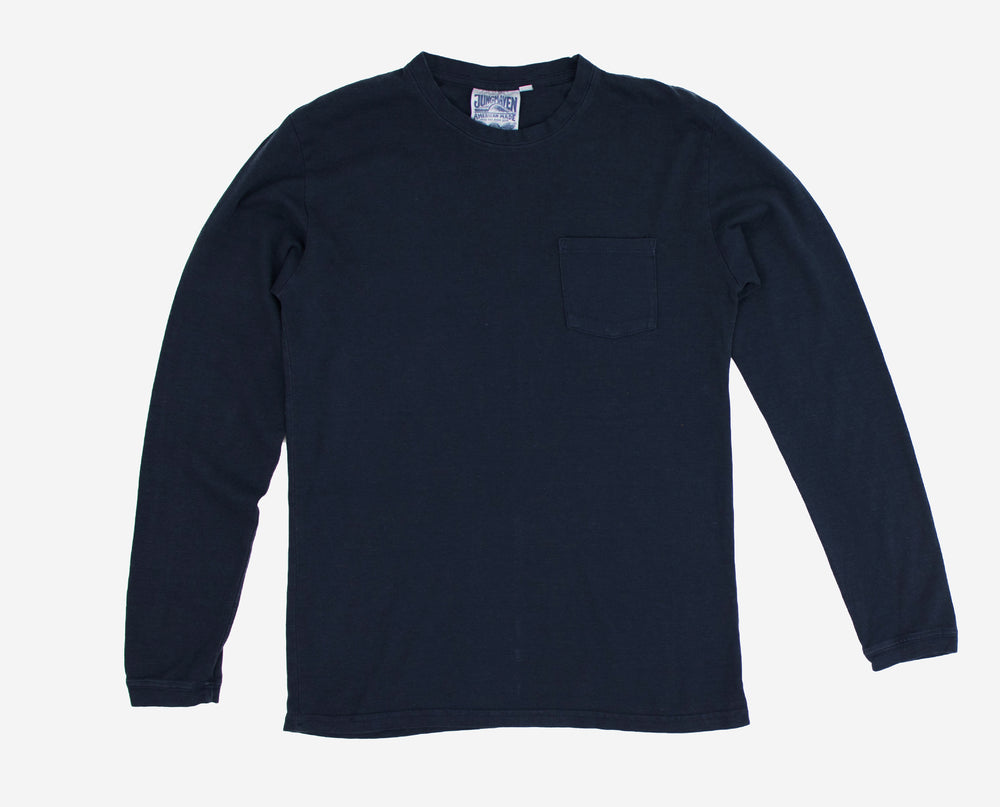 Baja Long Sleeve Pocket Tee - Navy