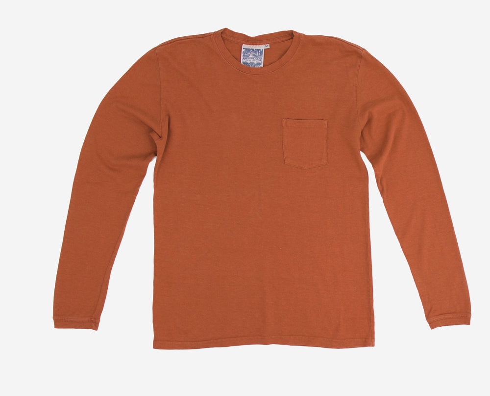 Baja Long Sleeve Pocket Tee - Terracota