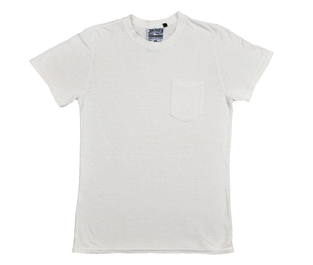 Jung Pocket Tee - Washed White