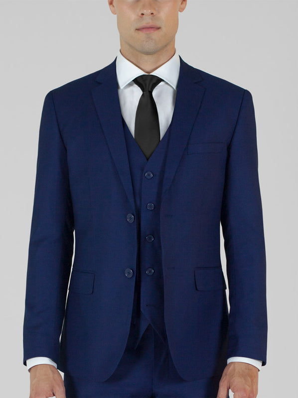 Birdseye Blue Three Piece Suit