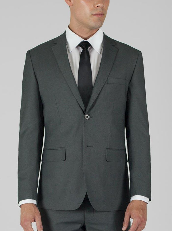 Birdseye Grey Two Button Suit