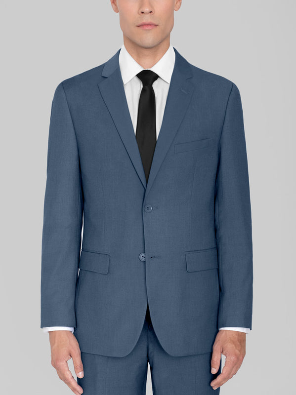 Slate Blue Two Button Suit