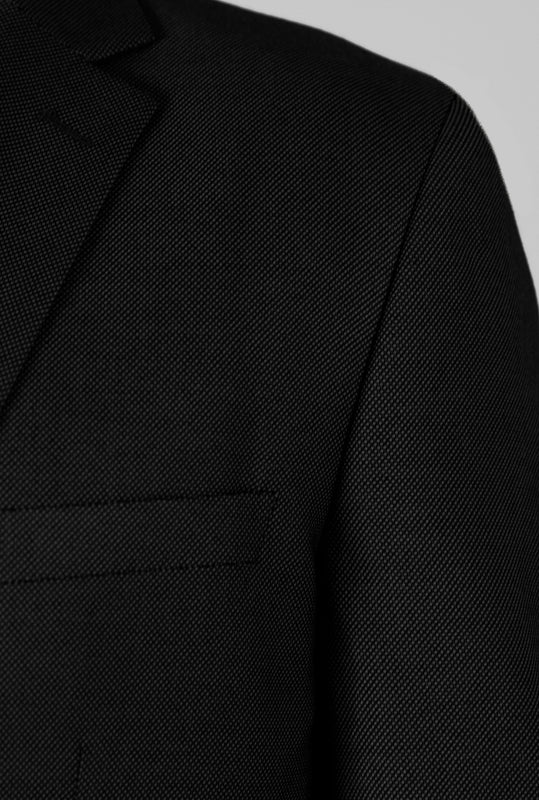 Birdseye Black Three Piece Suit