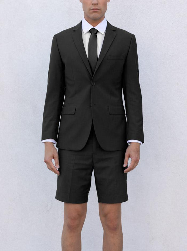 BLACK TR SHORTS SUITS