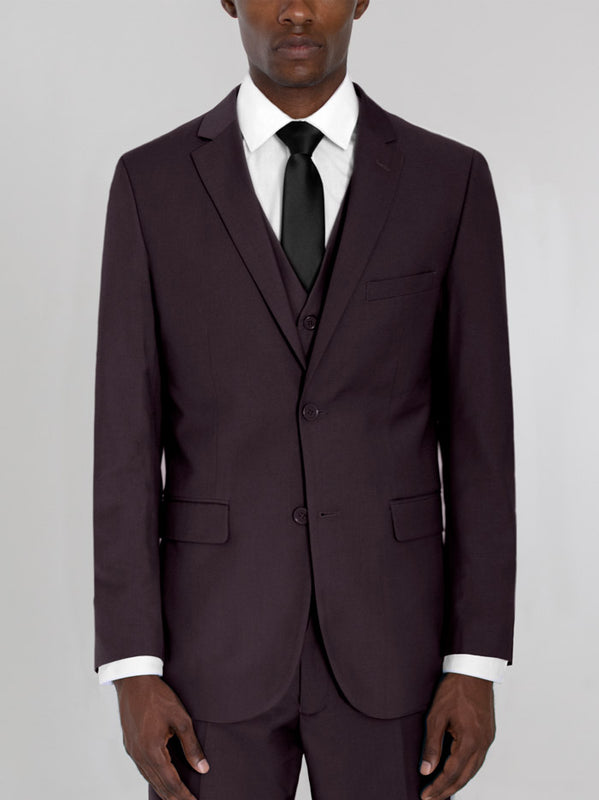 BURGUNDY THREE PIECE TR SUIT