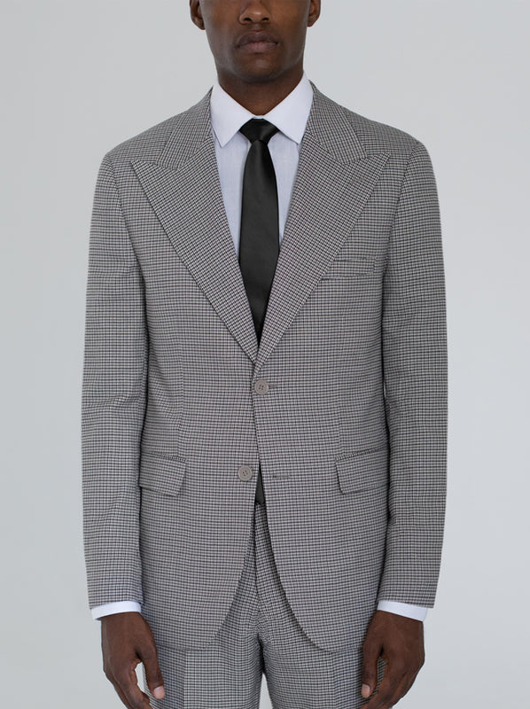 HOUNDSTOOTH TWO BUTTON WIDE LAPEL SUIT