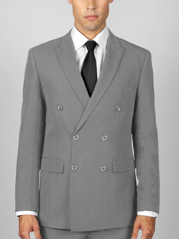 LIGHT GREY DOUBLE BREASTED TR SUIT