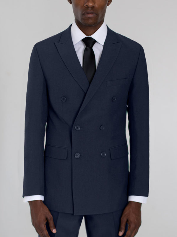 NAVY BLUE DOUBLE BREASTED TR SUIT
