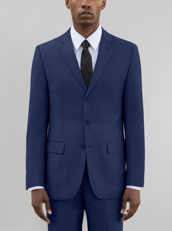 ROYAL BLUE THREE BUTTON SUIT