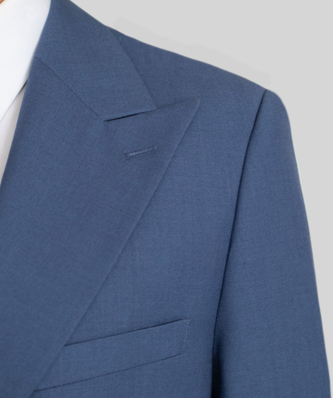 SLATE BLUE TWO BUTTON WIDE LAPEL SUIT