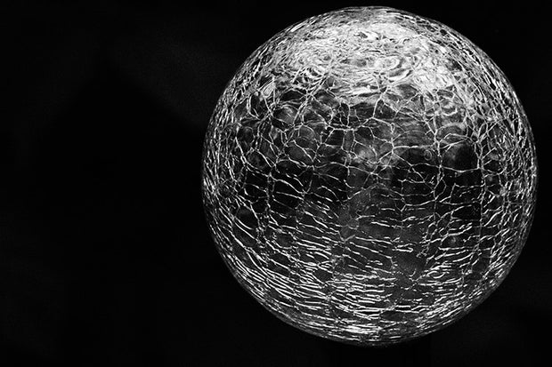 Black & White Art Print - Glass Ball