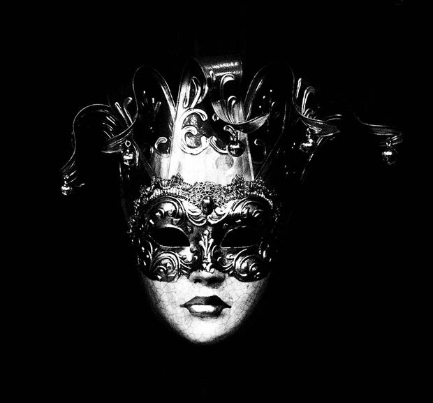 Black & White Art Print - Mask Two