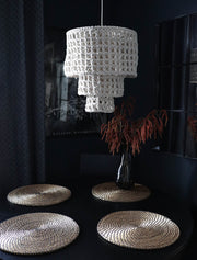 boho chandelier light - silvo - the knotted touch uk