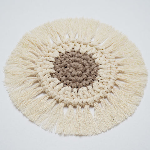 Boho Coasters - Khaki & Off-White