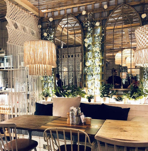 Boho Lightshades and Macrame Room Dividers