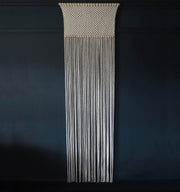 Long Macrame Curtain - Macrame Room Divider - Rolina - The Knotted Touch