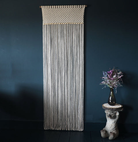 Macrame Door Curtain/Room Divider – 78cm x 210cm