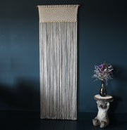 boho macrame curtain room divider fresco long