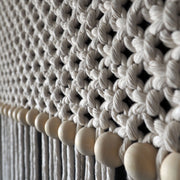 Long Macrame Curtain - Macrame Room Divider - Rolina