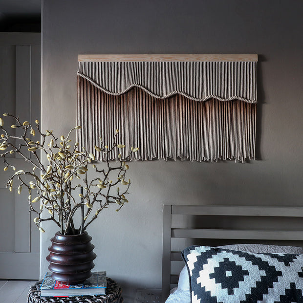 Ombre Brown Wall Hanging - Armanda