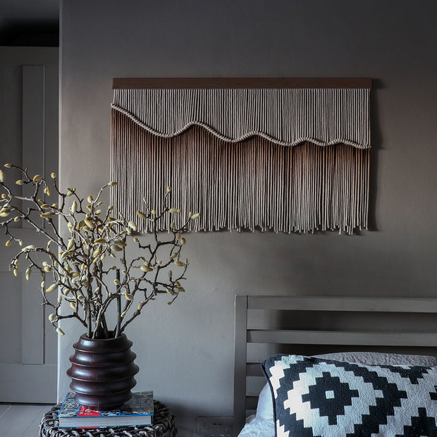Ombre Brown Wall Hanging - Armanda - Dark Wood