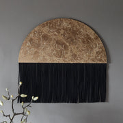 Round Boho Wall Hanging, Black & Gold - Shena - Wall Hangings UK