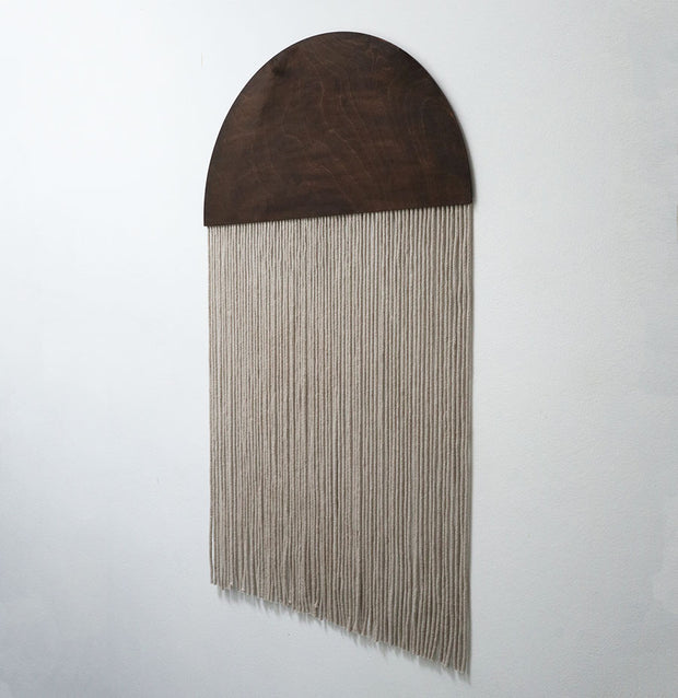 Round Grey Boho Wall Hanging - Sota