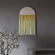 Round Yellow Boho Wall Hanging - Sona