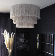 Boho Tassel/Fringed Light Shade – Salono 40cm