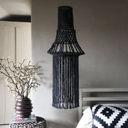 boho macrame chandelier pendant light pansy black