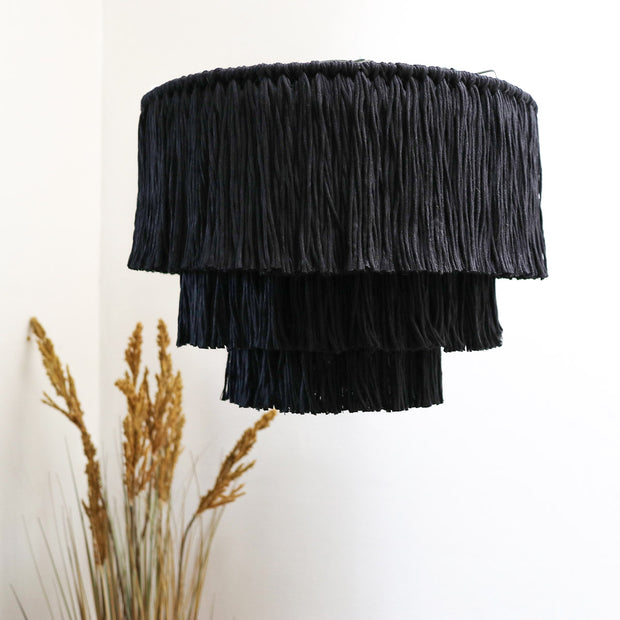 Boho Tassel 3 Tier Pendant Light Shade – Salono 40cm