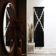 Long Black & White Wall Hanging - Belle