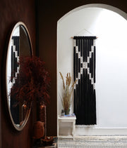 Large Long Black & White Wall Hanging - Belle